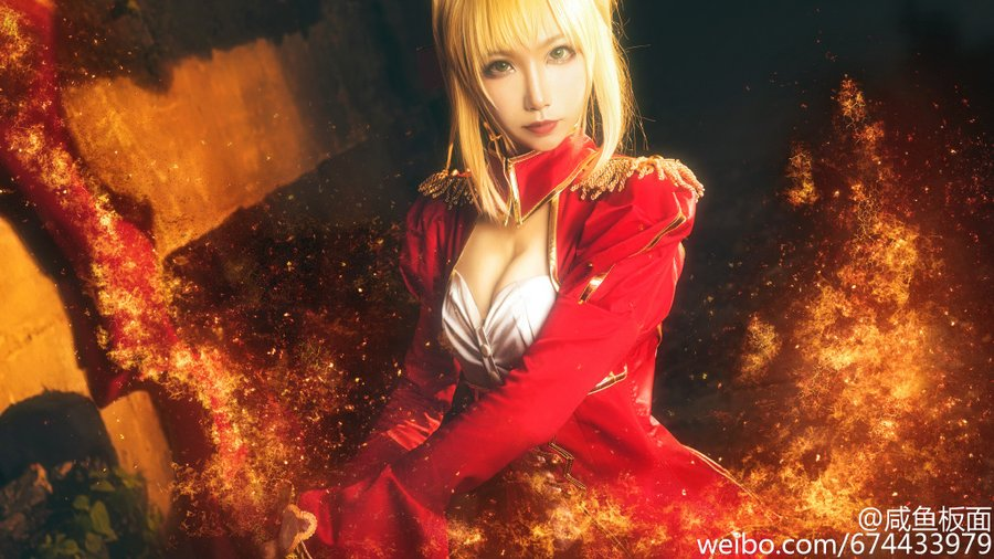 Fate/EXTRA fate saber 尼禄 cos Cosplay 暴君 福利 微博 图片